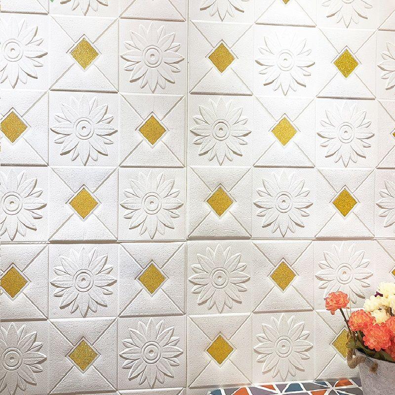 3d立体墙贴欧式亮片客厅天花板电视背景卧室壁纸贴画自粘防撞软包