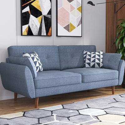 北欧布艺沙发小户型现代简约客厅布艺可拆洗欧式双人三人沙发组合