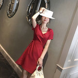 2019 summer new Korean short-sleeved slim dressing dress summer was thin tide mother postpartum out breastfeeding clothes