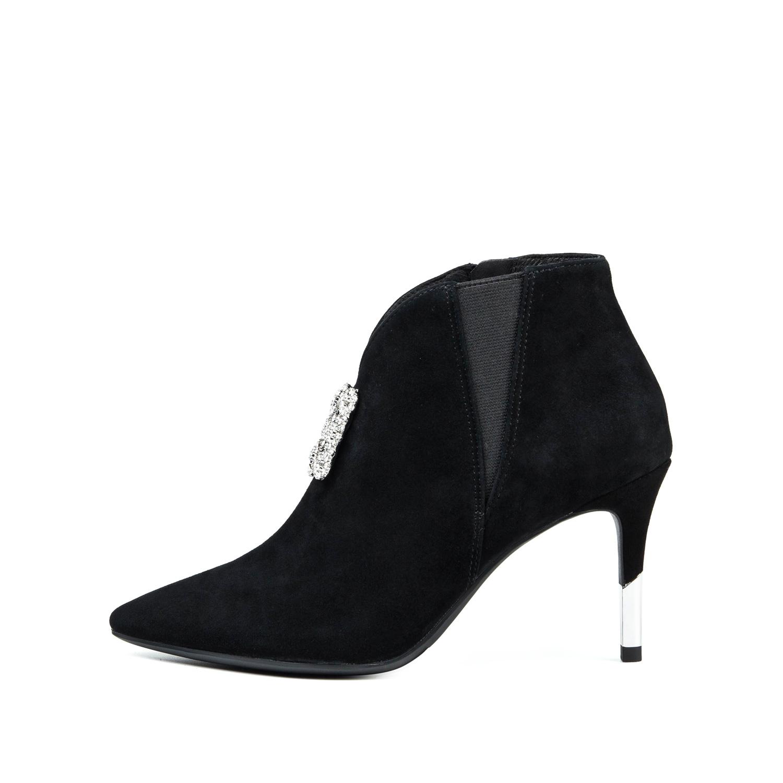 SS74116356 冬新商场同款羊反绒细高跟女鞋短靴 2017 星期六
