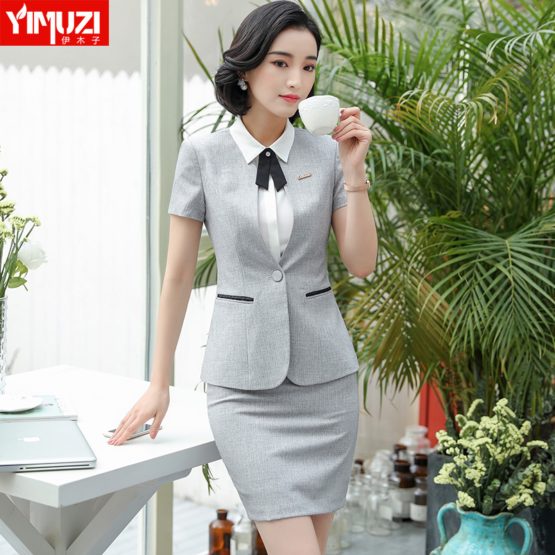career wear female 2018 new summer casual office girls suit fashionable