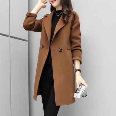茧型呢子大衣2018秋冬新款时尚韩版气质宽松显瘦毛呢外套中长款女