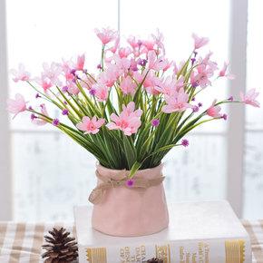 清新兰花小盆栽假花仿真花艺套装摆设客厅卧室餐桌家居装饰花摆件