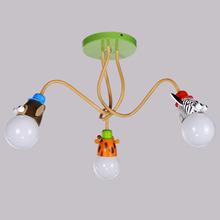 儿童房灯 男孩卧室吸顶灯个性创意动物LED吊灯女孩公主房间卡通灯