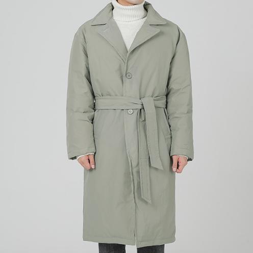2018新款韩国正品加厚保暖羽绒服男士潮流中长款大码宽松鸭绒外套