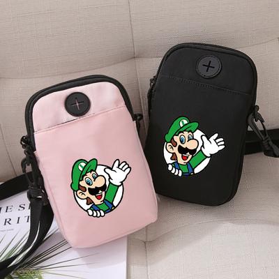 卡通动漫马里奥超级玛丽单肩小挎包韩版简约迷你手机包竖款证件包