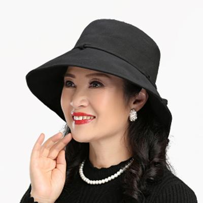 秋冬季帽子女韩版时尚渔夫帽可折叠休闲盆帽时装布帽遮阳帽子女帽