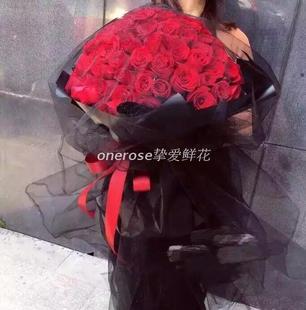 同城配送99朵红玫瑰鲜花束重庆情人七夕节惊喜浪漫表白女生礼物