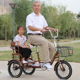 雅士弟新款成人三轮车自行车中老年代步车家用双人老人脚踏车人力图片