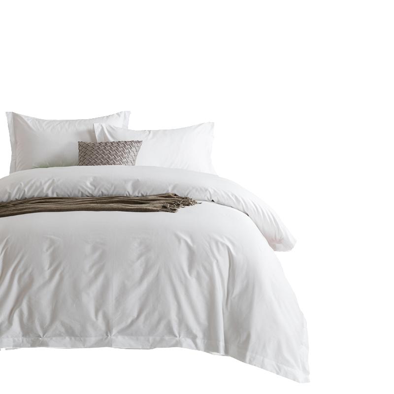 五星级宾馆酒店床上用品批發白色床单被套四件套全棉纯棉民宿客栈