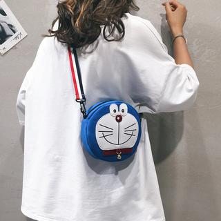 卡通小包包女2019新款潮韩版百搭可爱洋气圆包学生帆布单肩斜挎包