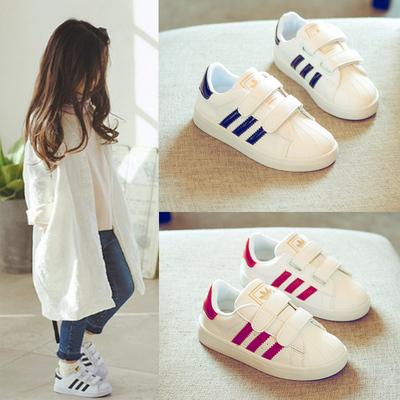 秋季鞋子儿童小白鞋休闲鞋女童白色板鞋韩版球鞋百搭男童宝宝童鞋