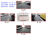 Picture splitter 4-channel video processor car camera monitoring split screen dedicated interface four into 1 out direct sales