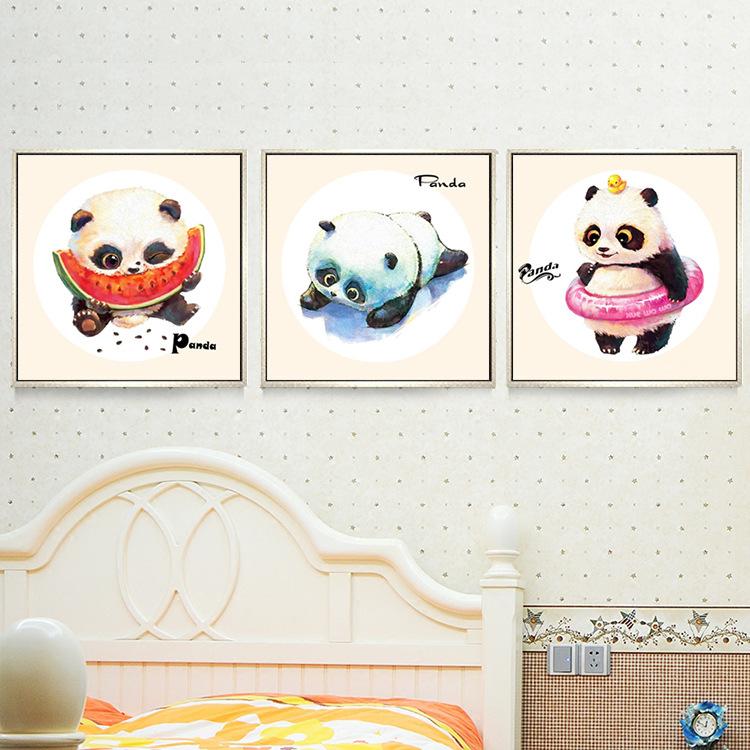 熊猫十字绣客厅