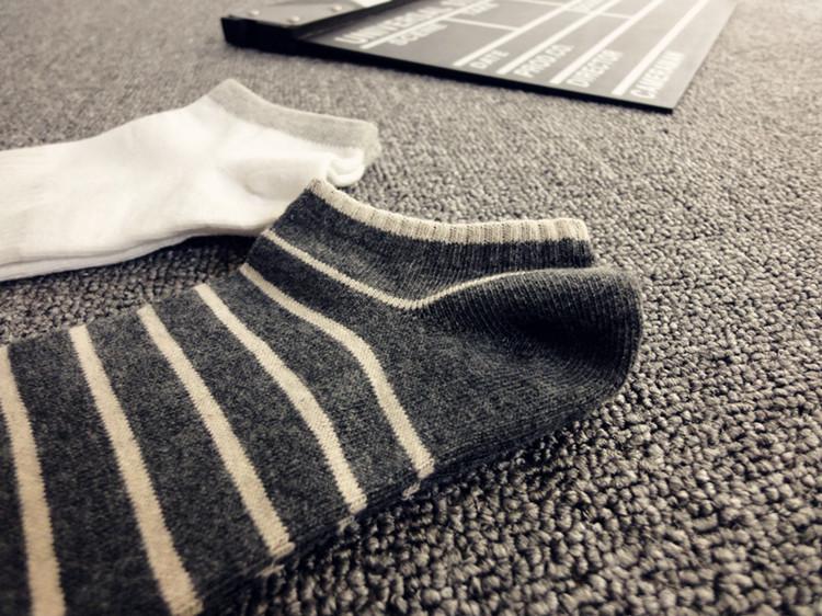 袜子男短袜棉袜夏季男士船袜纯棉浅口低帮春天运动袜短筒条纹男袜