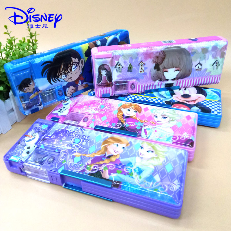 小学生笔袋男女童多功能卡通儿童文具盒双开简约大容量铅笔袋时尚