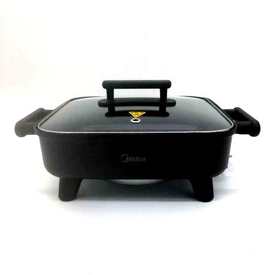 美的电火火锅锅家用多功能电热锅电炒菜蒸煮烧烤一体锅2-3-4-6人