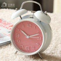 超大声音可爱金属小闹钟创意静音夜灯儿童数字学生用床头钟表简约