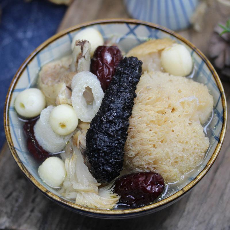 海参竹荪猴菇汤 儿童长辈熬夜白领四季营养滋补老火港式炖煲汤料