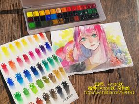 【杂物堆】包邮梵高39色/24色去白色 新手水彩分装 0.5ml40色全色