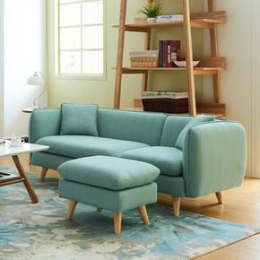 北欧日式可拆洗布艺沙发床组合小户型单人双人三人位客厅整装简约