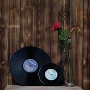Original vinyl record has scratches Retro nostalgic Oron decoration Book bar decoration No coat