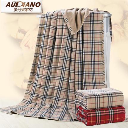 澳丹奴全棉纱布毛巾被单人双人加厚纯棉毛巾毯空调毛毯子休闲盖毯