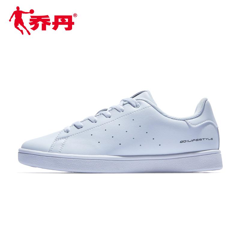 乔丹板鞋女鞋2019新款夏季透气小白鞋轻便平底运动鞋女正品休闲鞋