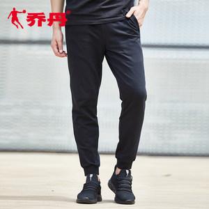 乔丹运动裤男裤2019春季新品针织裤长裤收口男士透气卫裤休闲裤子