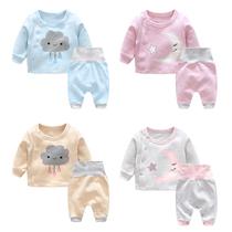 女宝宝春装3套装2婴儿童0女童1岁时尚潮衣服秋冬洋气短袖冬装秋冬