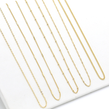 Fiorine DIY jewelry accessories necklace bead material 5UM genuine gold women's finished naked Necklace does not fade