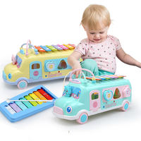 Children baby eight-tone hand knock on the piano 8 months baby music around the beads puzzle musical instrument 1-2-3 years old beat toys