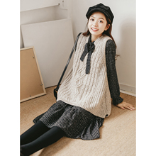 2019 spring French small dress female two-piece French retro Yamamoto sweater vest skirt playful suit