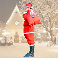 Adult male Santa Claus clothing Santa Claus clothes Clothing Non-woven adult suits