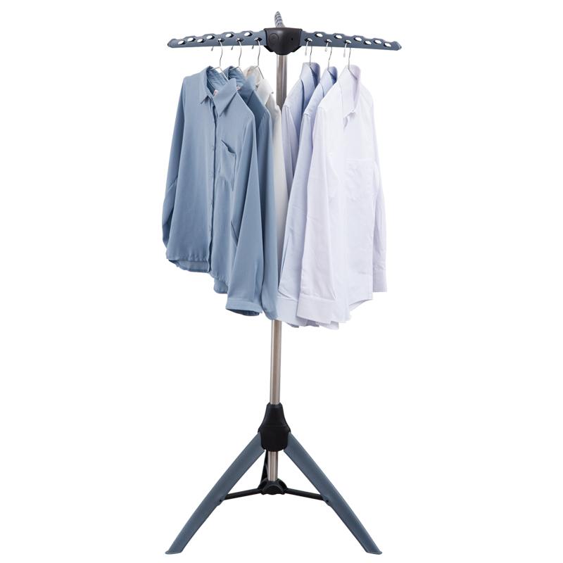 家用落地三脚晾衣架卧室内挂衣架可折叠省空间小型阳台凉晒衣架子