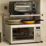 欧润哲 单层加厚微波炉架子 简约现代置物架烤箱架台面整理收纳架