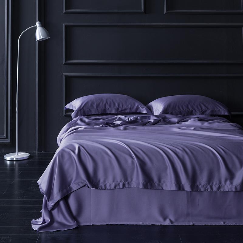 紫罗兰天丝四件套