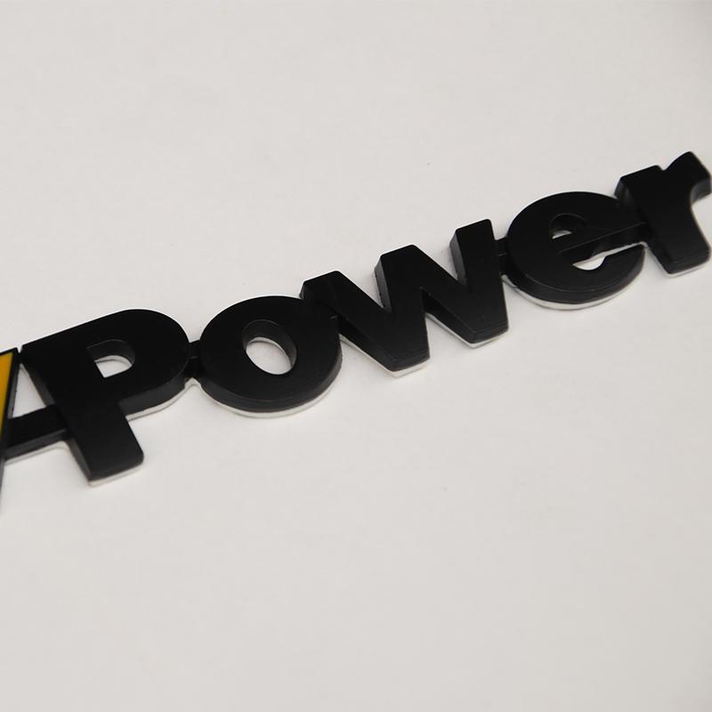 宝马X1尾标改装power  Mpower标志贴 X3/X4/X5/1/3/5系金属贴车标