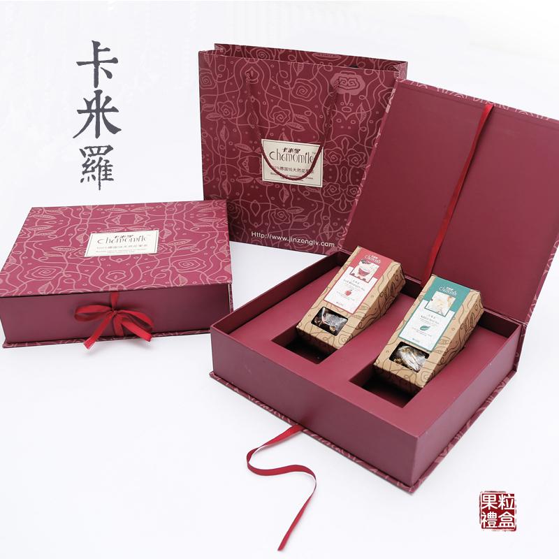 【包邮】卡米罗 德国进口 花果茶精美礼盒 120克*2盒 百年工艺