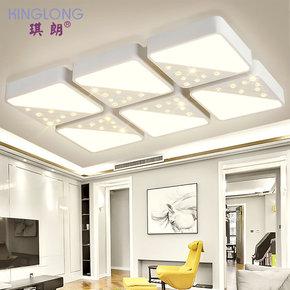琪朗灯饰现代简约LED吸顶灯长方形水晶客厅灯个性创意卧室灯0303