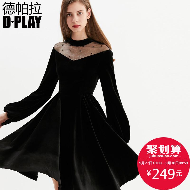 黑色性感连衣裙冬