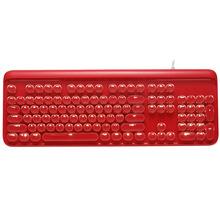 跨境热卖水晶朋克机械键盘粉红色女主播绝地求生吃鸡游戏机械键盘