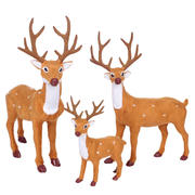 Thousands of Squares Christmas Decoration Deer Elk Christmas Reindeer Christmas Decorations Dress Up Deer Sika Deer Christmas Deer Decoration