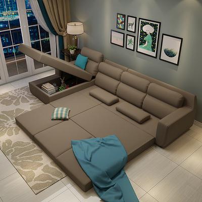 小户型多功能转角沙发床组合特价精选