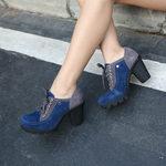 牛反绒女短靴