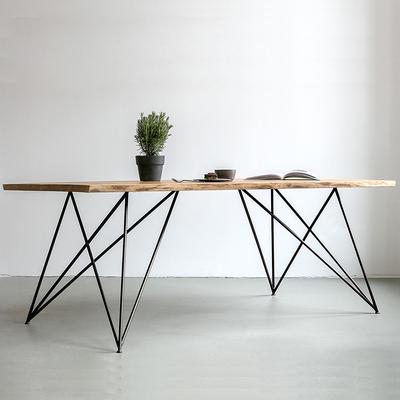 北欧办公桌实木书桌子简约写字台会议桌铁艺电脑桌小户型家用餐桌口碑如何
