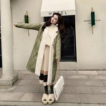 棉服女2018新款韩版可爱少女长款过膝学生冬季棉袄加厚软妹外套