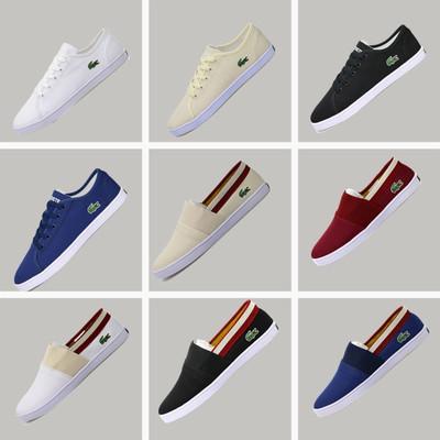 新款鳄鱼男鞋帆布鞋系带鳄鱼牌布鞋潮鞋懒人板鞋轻盈休闲鞋小白鞋