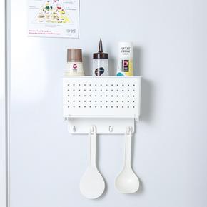 日本进口冰箱挂架侧壁挂架 厨房壁挂置物架  带吸铁石挂钩收纳架