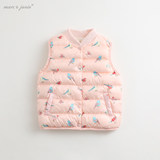 Mark Jenny winter clothes for boys and girls ultra light down vest baby baby warm vest 82928